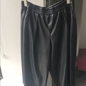 zara wide cropped pants